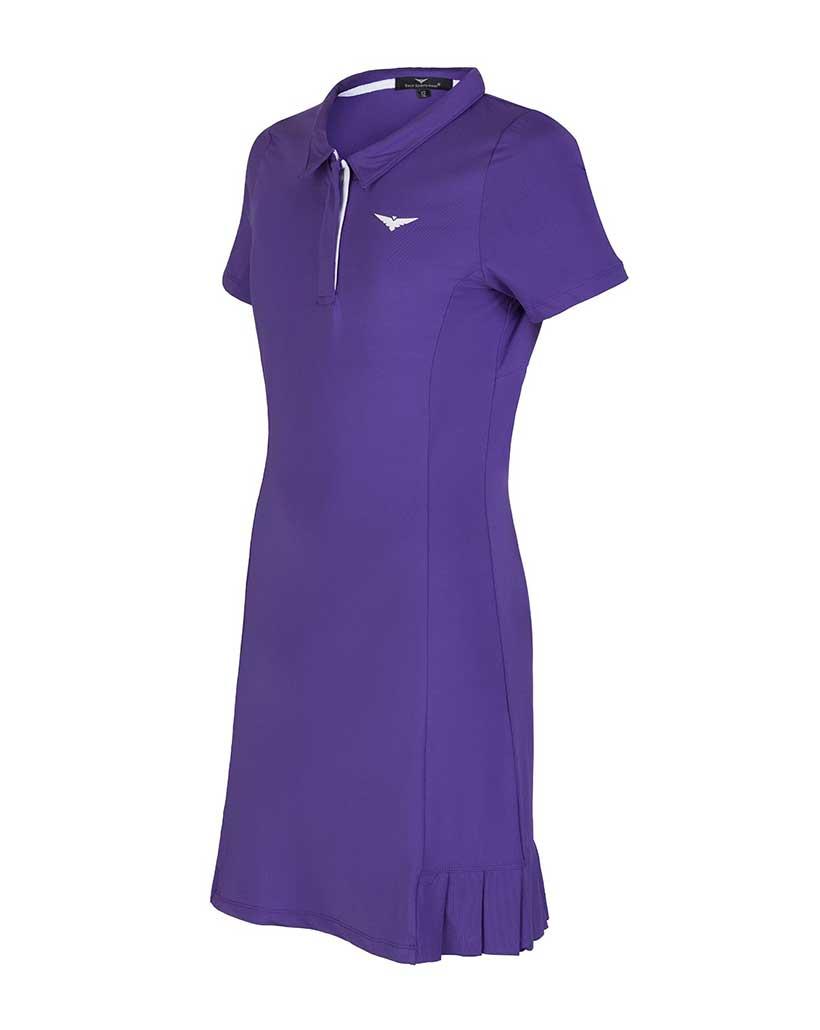 Girls Tennis Dress Purple Polo Tennis Dress Kids Golf