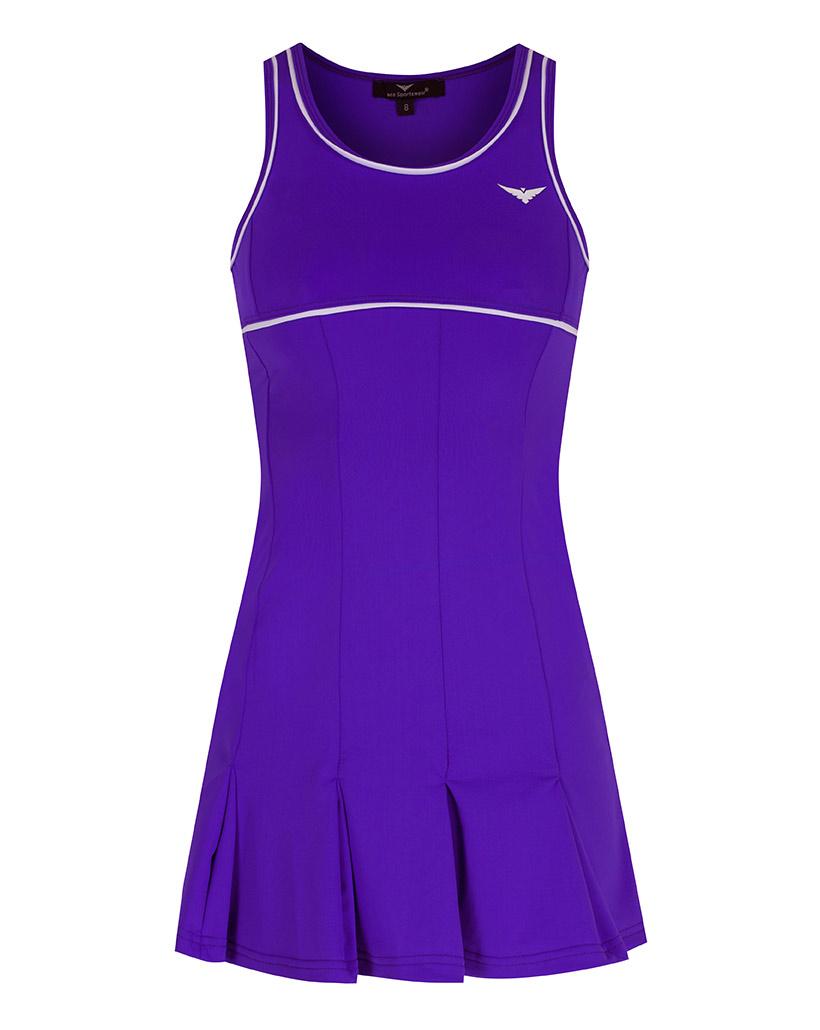 Girls Purple Pleated Tennis Dress Golf Dress Bace