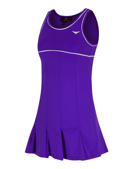Girls Tennis Pleated Dress | Girls Golf Pleated Dress Purple and White