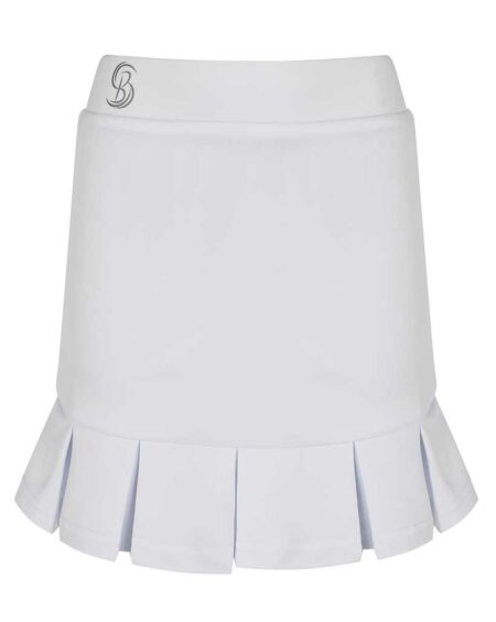 Girls Pleated Tennis Skirt with Matching Underpants  White