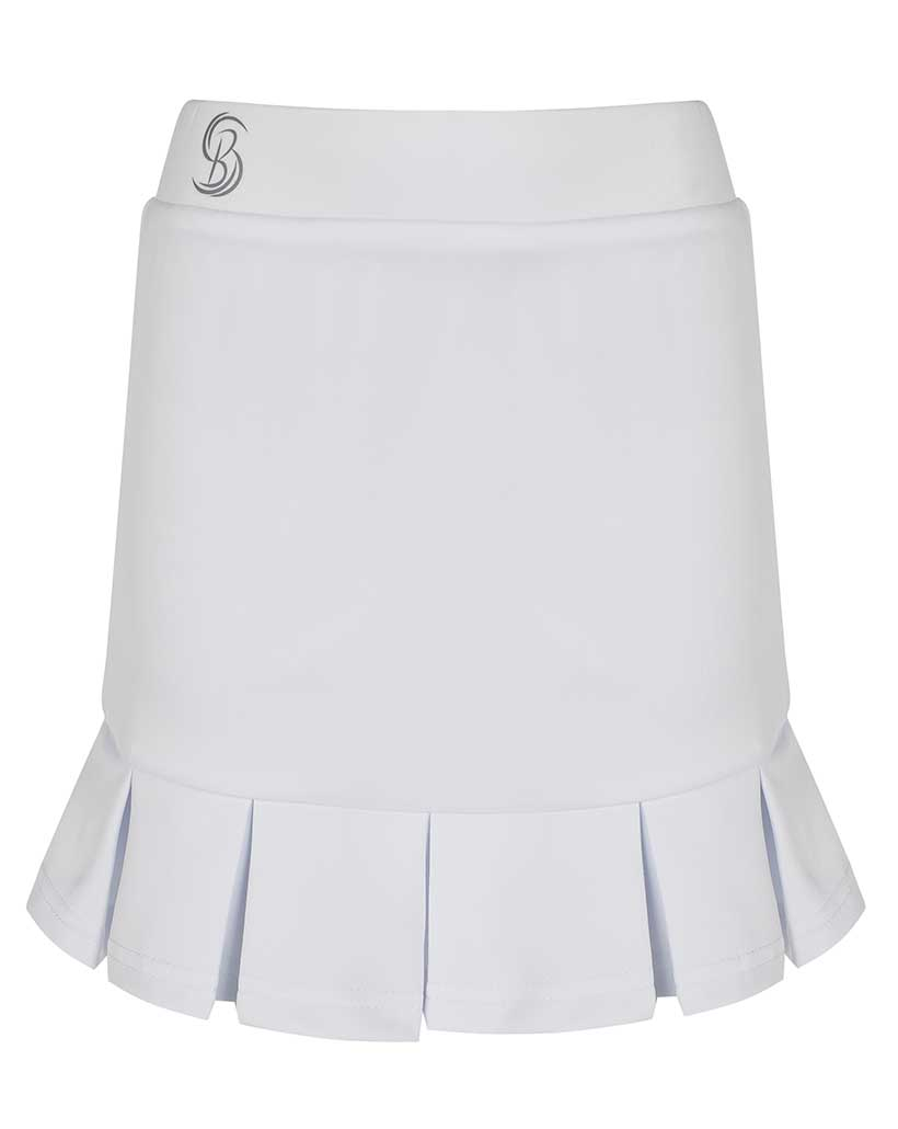 Girls White Pleated Tennis Skirts / Junior Skorts | Bace Sports Wear