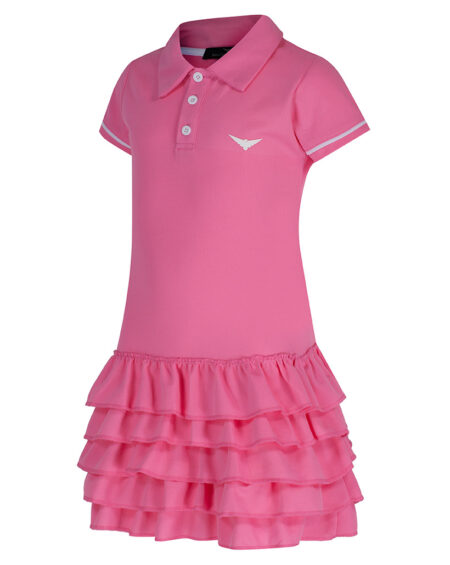 Girls Polo Tennis Frill Dress | Girls Golf Dress | Pink