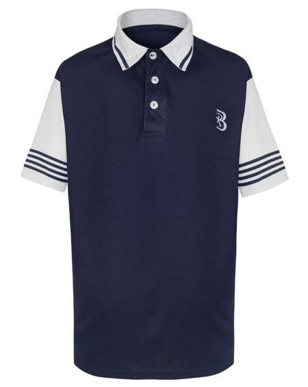 Boys Navy Blue and White Tennis Outfit