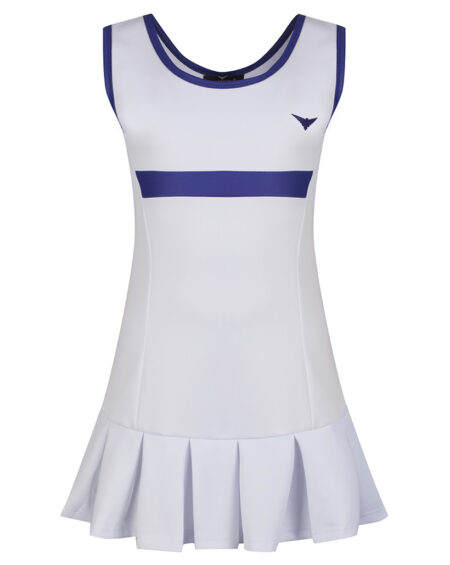Girls Tennis Pleated Dress  Girls Golf Pleated Dress  White and Blue