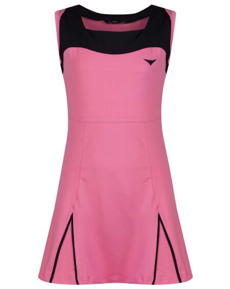 Girls A-line Tennis Dress | Girls A-line Golf Dress | Black and Pink