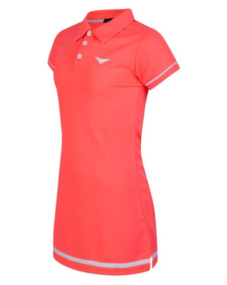 Girls A-line Tennis Polo Dress | Girls Golf Dress | Pink