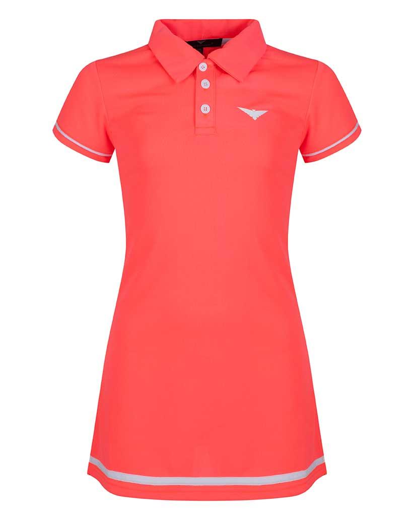 Girls Pink Polo Tennis Dress Junior Tennis Clothing