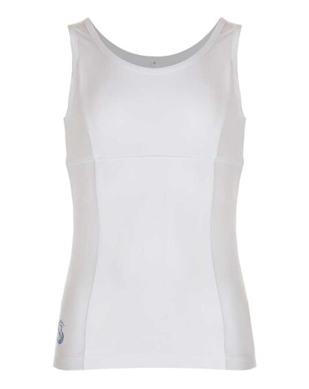 Girls Tennis Tank Top | Girls Branded Golf Tank Top | White