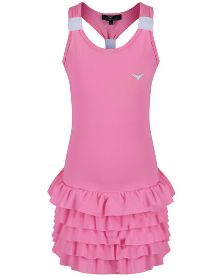 Girls Tennis Frill Dress | Girls Golf Frill Dress | Pink