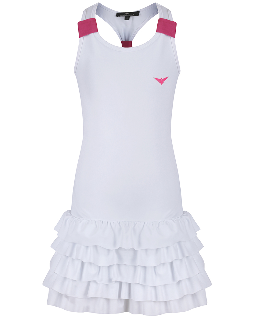 Girls White Tennis Dress / Girls White & Pink Tennis dress / Girls ...