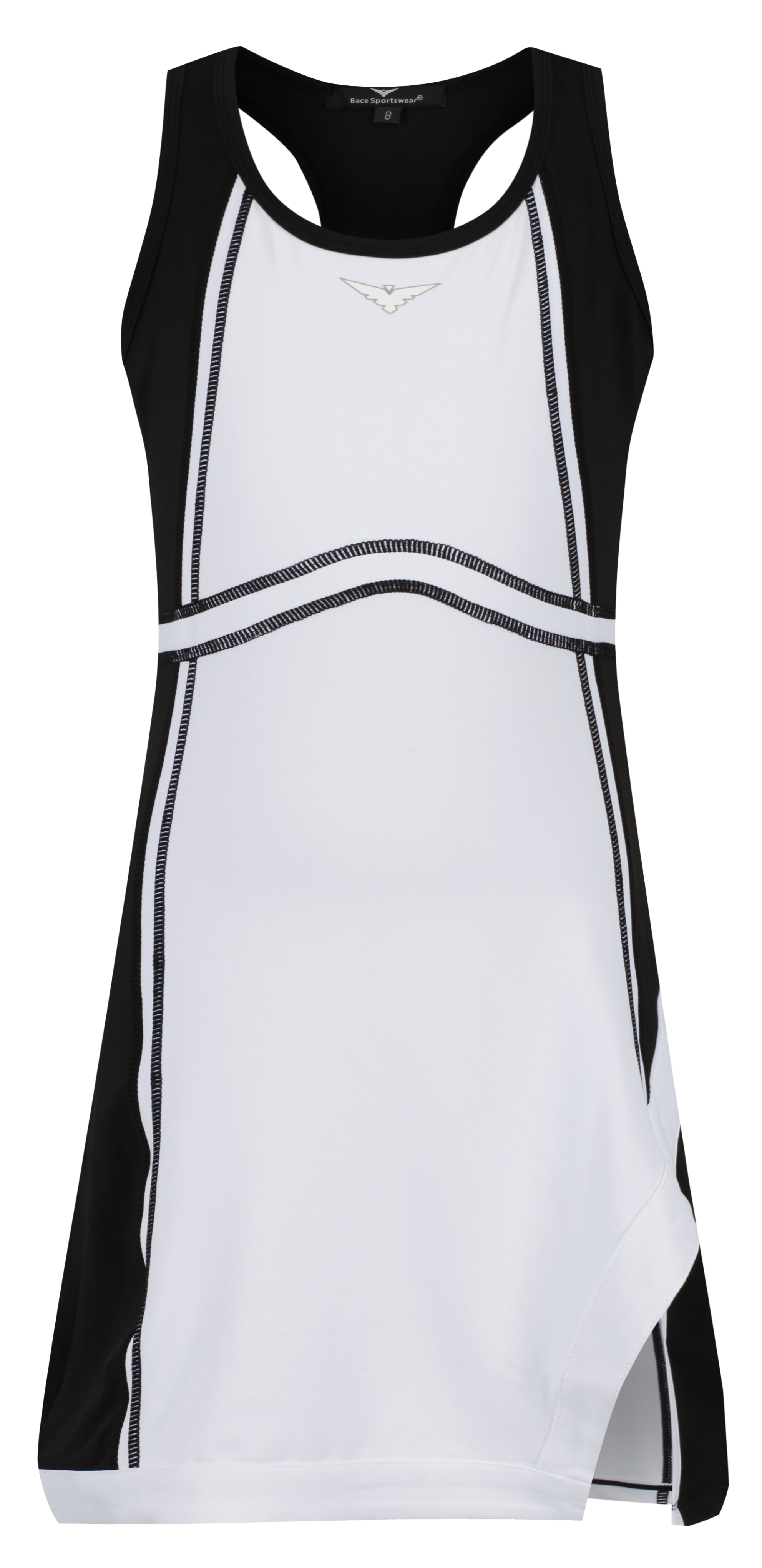 Girls Black And White Tennis Dress Girls Black Tennis