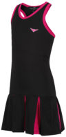 Black and Pink Pleated Tennis dress