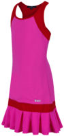 Pink and Red pleated tennis dress