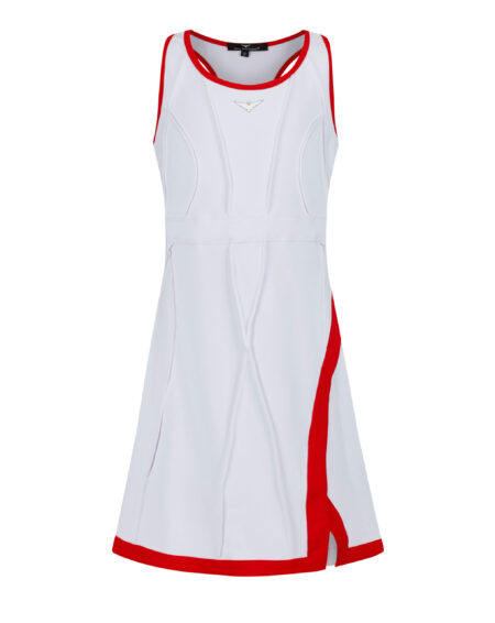 Girls Side Split Tennis Dress | Girls Golf Dress | Red and White