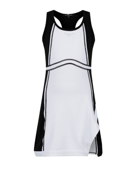 Girls Side Split Tennis Dress | Girls Golf Dress | Black and White
