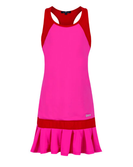Girls Tennis Frill Dress | Girls Golf Frill Dress | Pink and Red