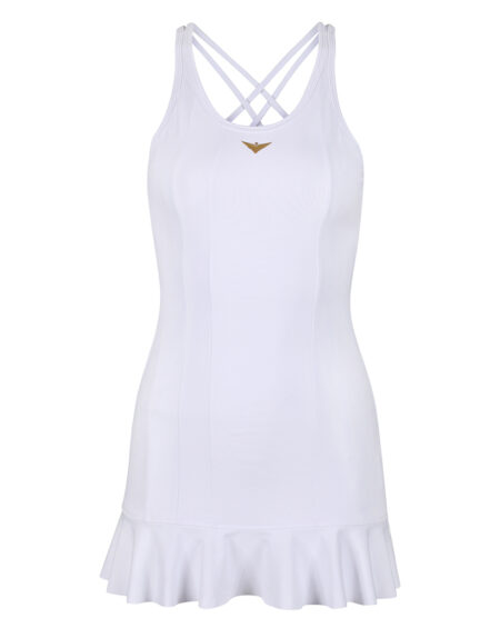 Girls White Tennis Frill Dress | Girls Golf Dress | White