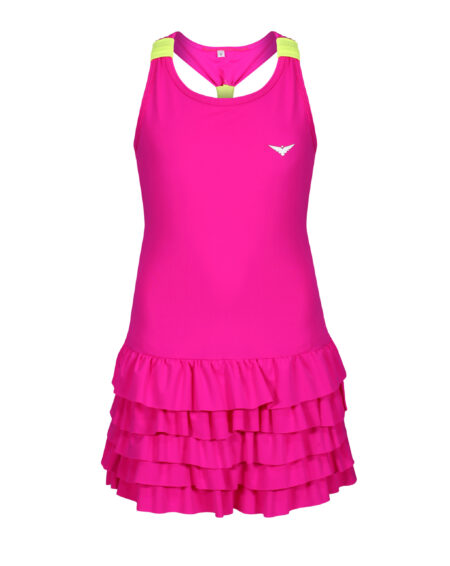 Girls Tennis Frill Dress | Girls Golf Frill Dress | Pink and Yellow