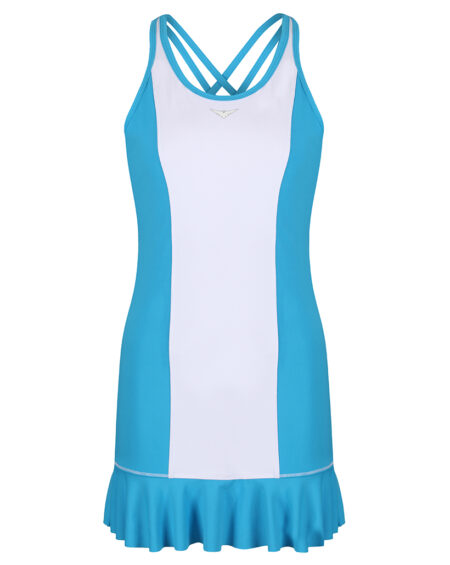 Girls Tennis Flared Dress | Girls Golf Flared Dress | Blue and White