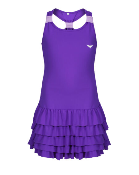 Girls Tennis Frill Dress    Girls Golf Frill Dress  Purple
