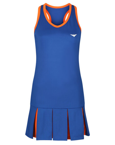 Girls Tennis Pleated Dress | Girls Golf Pleated Dress | Blue and Orange