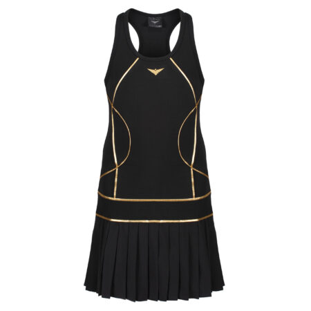 Girls Tennis Pleated Dress | Girls Golf Pleated Dress | Black Tennis Dress