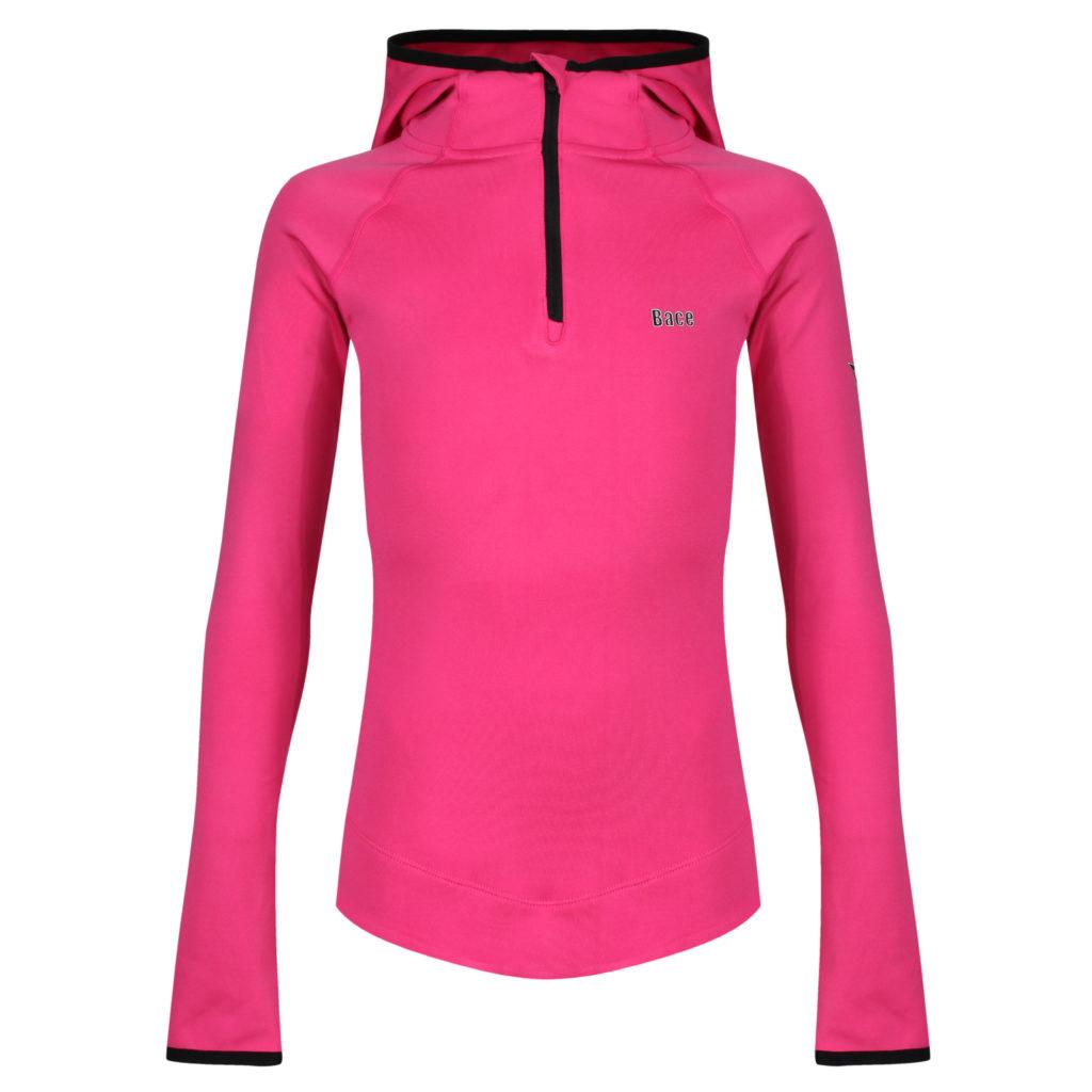 pink running hoodie