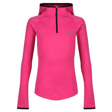 Girl Pink hoodie | Tennis Jacket Warm up Hoodie | Tennis 3/4 Zip Warm up Hoodie | Running Hoodie