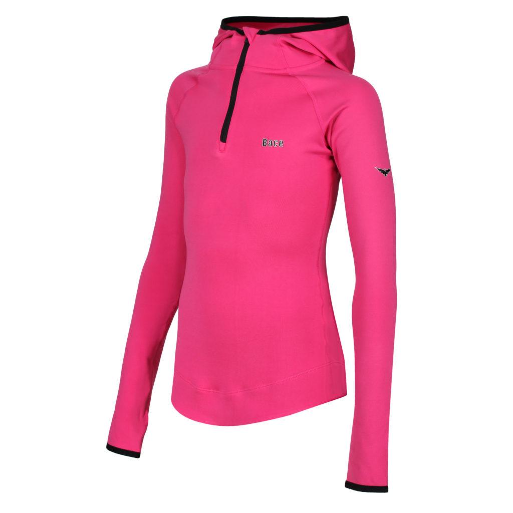 pink running hoodie for women