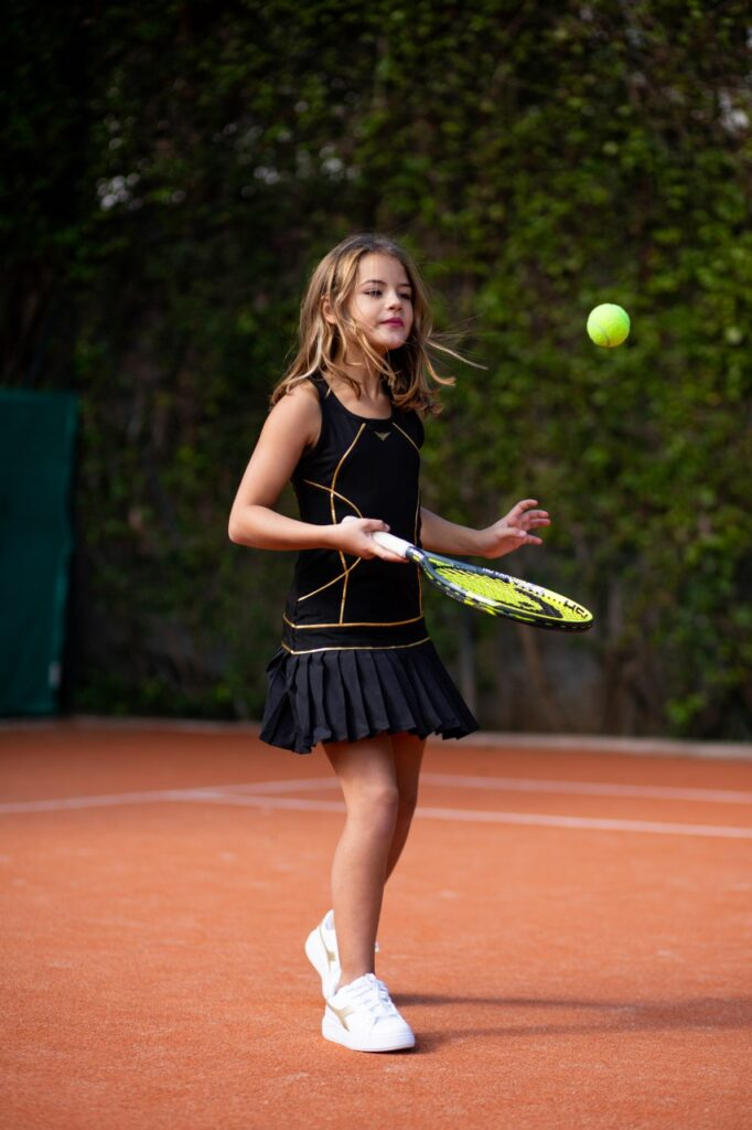 black tennis dresses